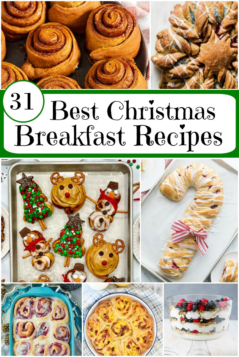 pinterest collage image for best christmas breakfast recipes