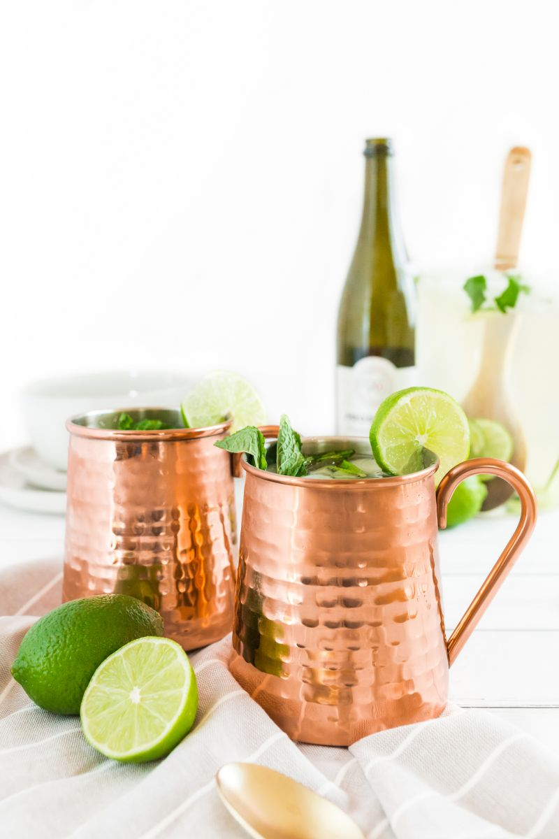 two champagne moscow mules
