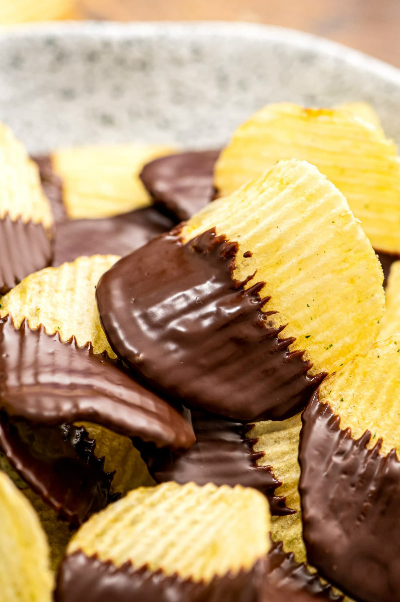 Chocolate Covered Potato Chips