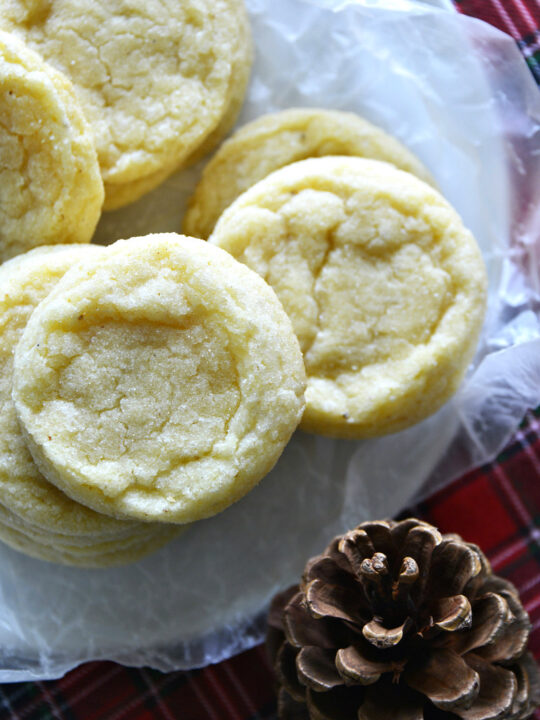Eggnog Cookies stacked