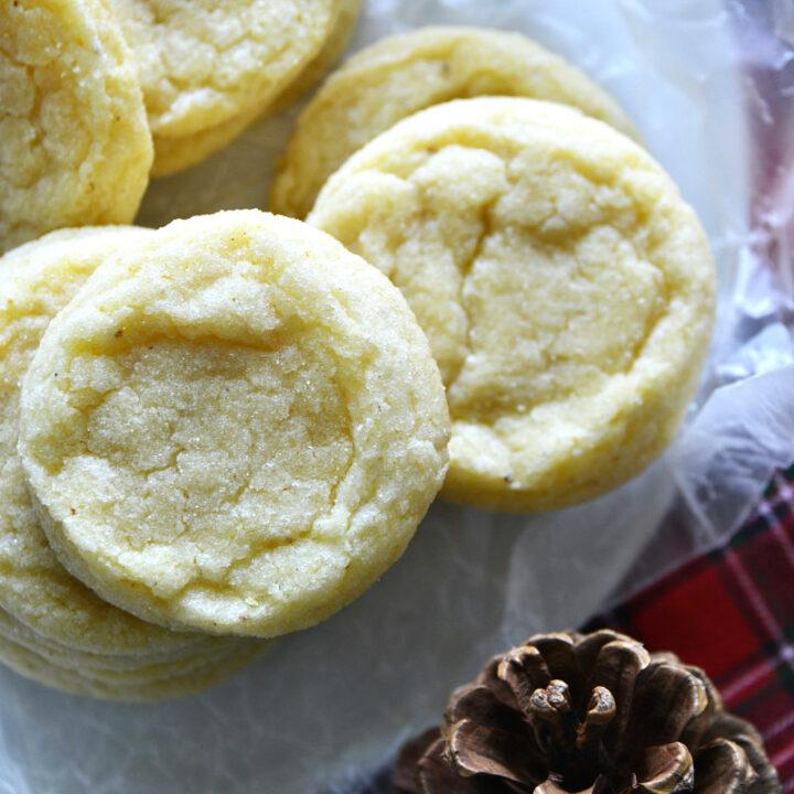 Eggnog Cookies stacked