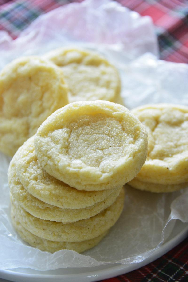 stacks of eggnog cookies