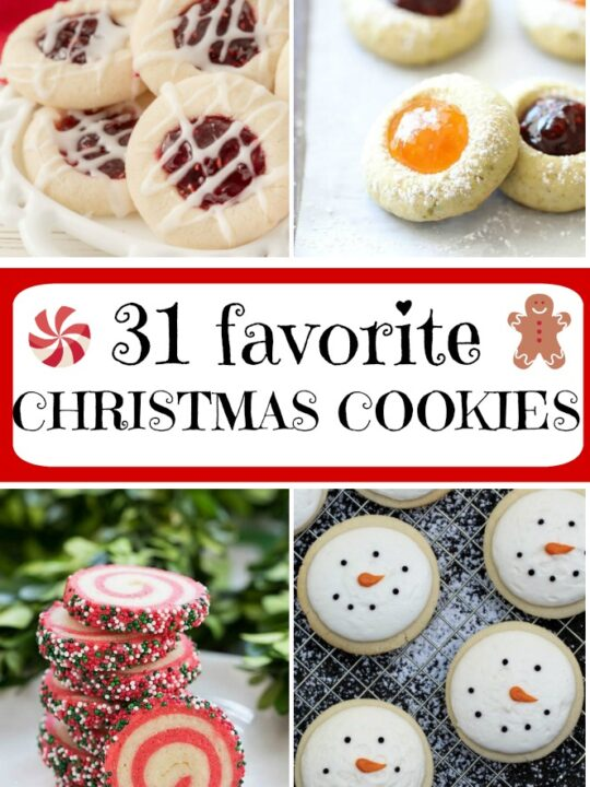 collage image for favorite christmas cookies