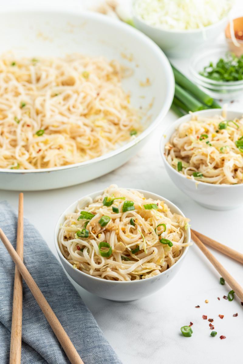 longevity noodles served in bowl