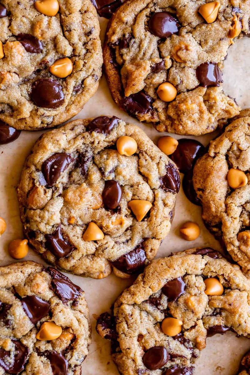 peanut butter butterscotch chocolate chip cookies