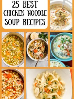 pinterest collage image for 25 best chicken soup recipes