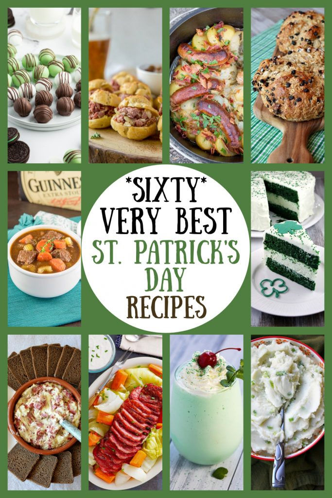 pinterest collage image for 60 best st. patrick's day recipes