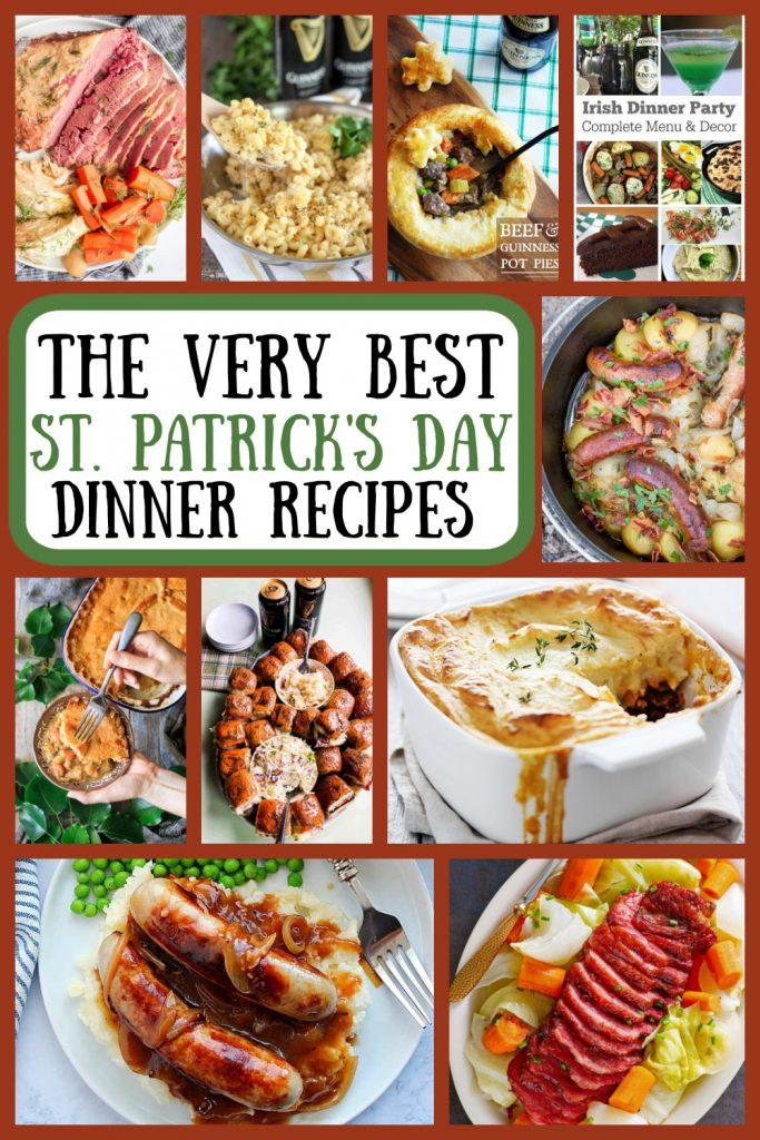 Pinterest collage for St. Patrick's Day Dinner Recipes