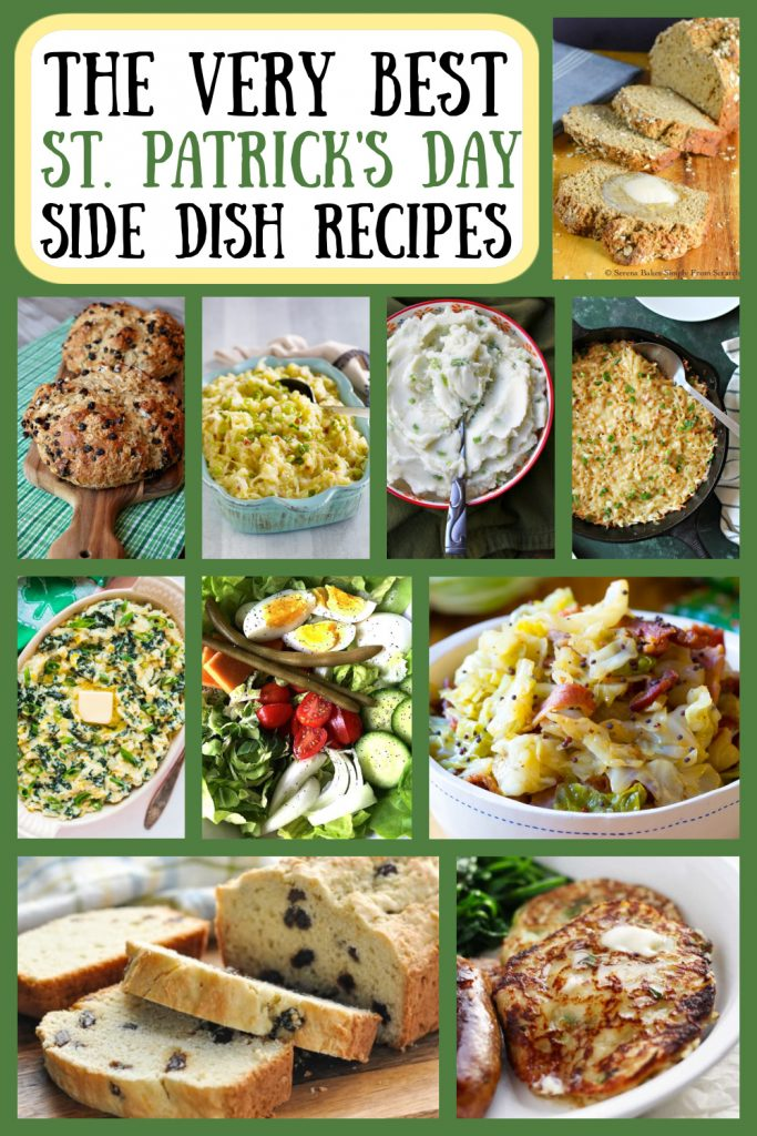 Pinterest collage for St. Patrick's Day Side Dish Recipes