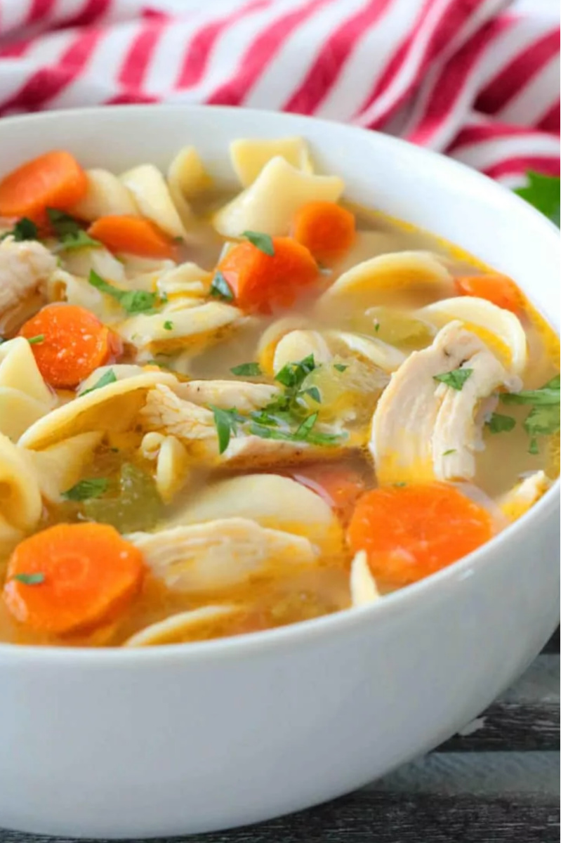 Homemade Chicken Noodle Soup in a bowl