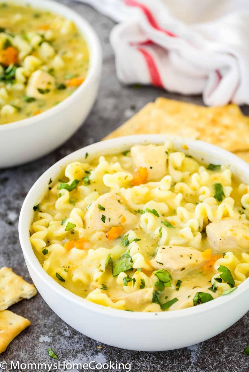Pressure Cooker Creamy Chicken Noodle Soup