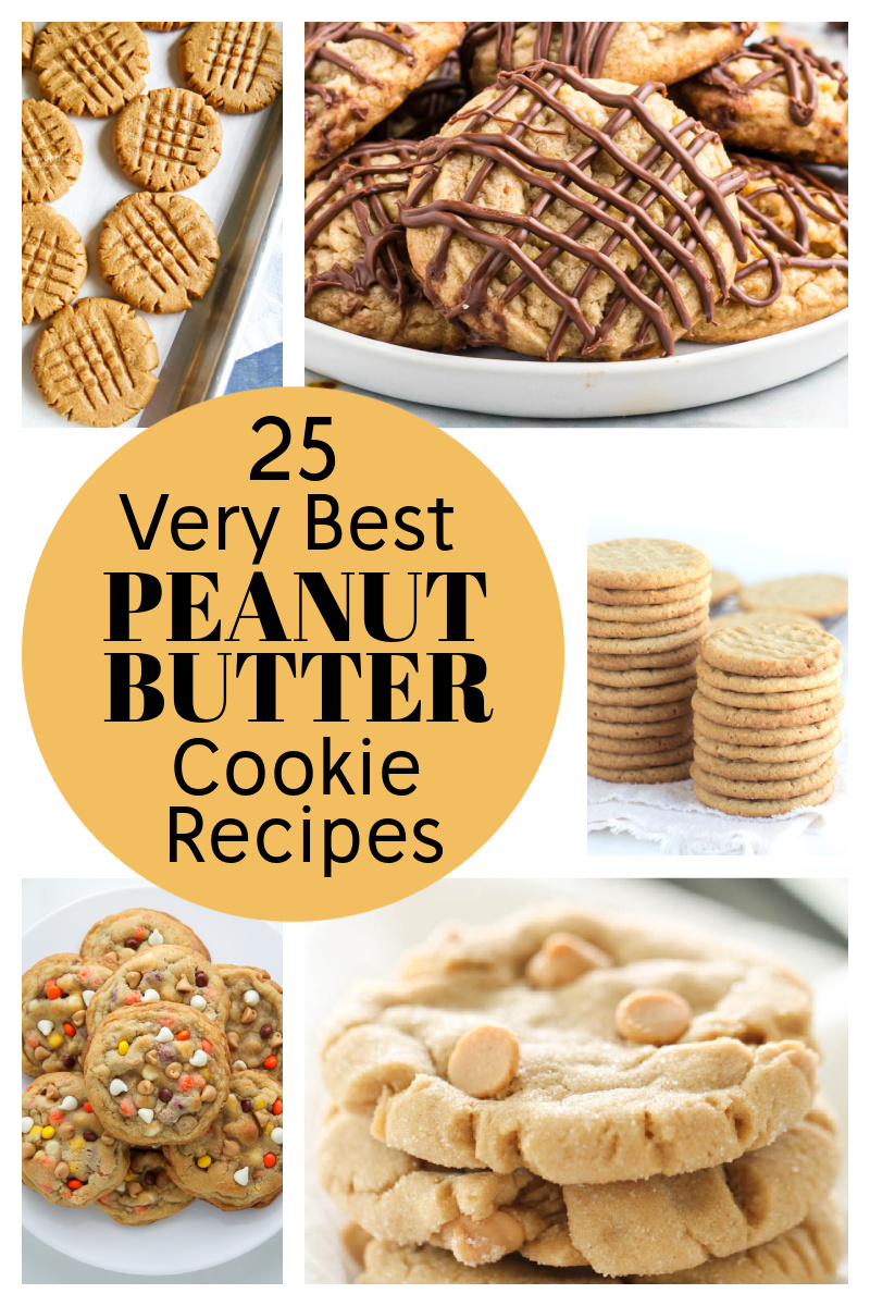 pinterest collage image for best peanut butter cookie recipes