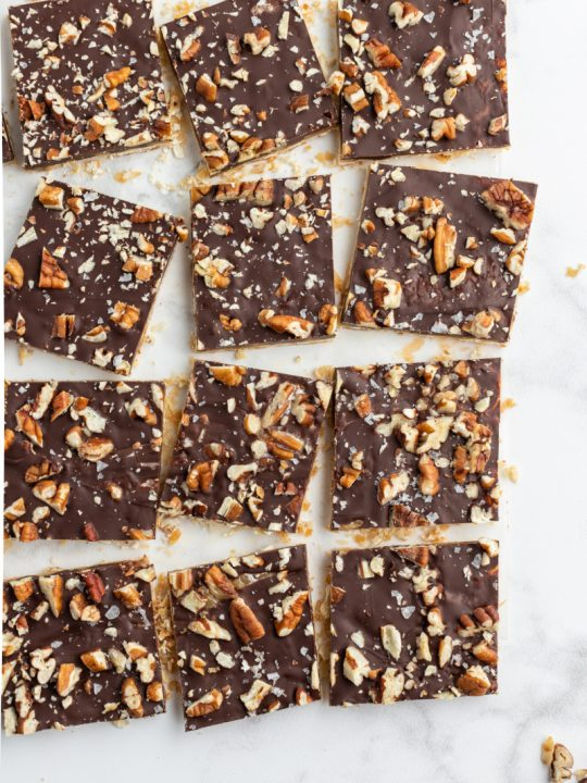 pecan praline chocolate matzoh pieces