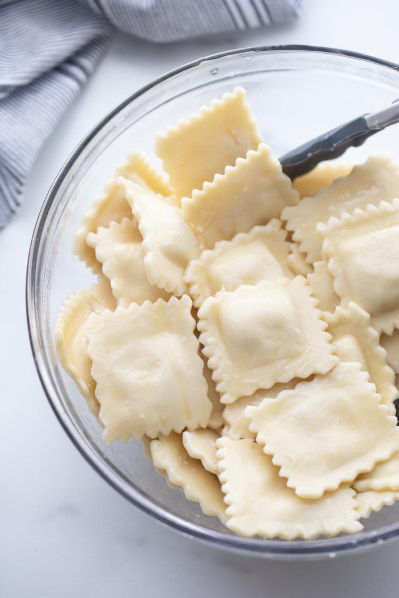 ravioli in a bowl