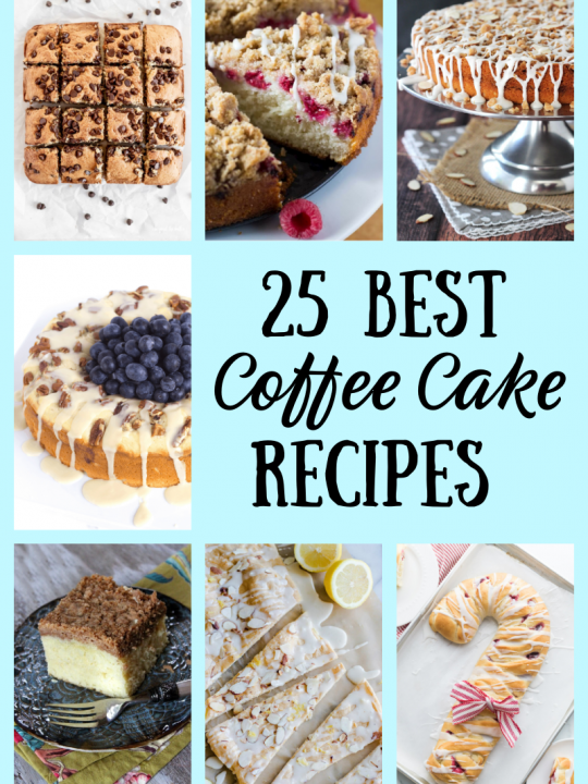 collage of coffee cake recipes