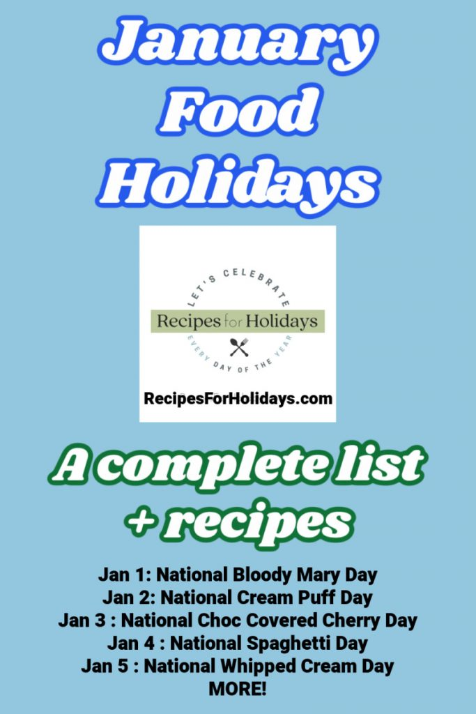 intro image for post on january food holidays