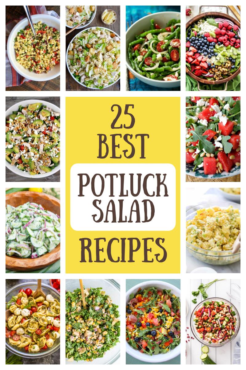 best potluck salads collage