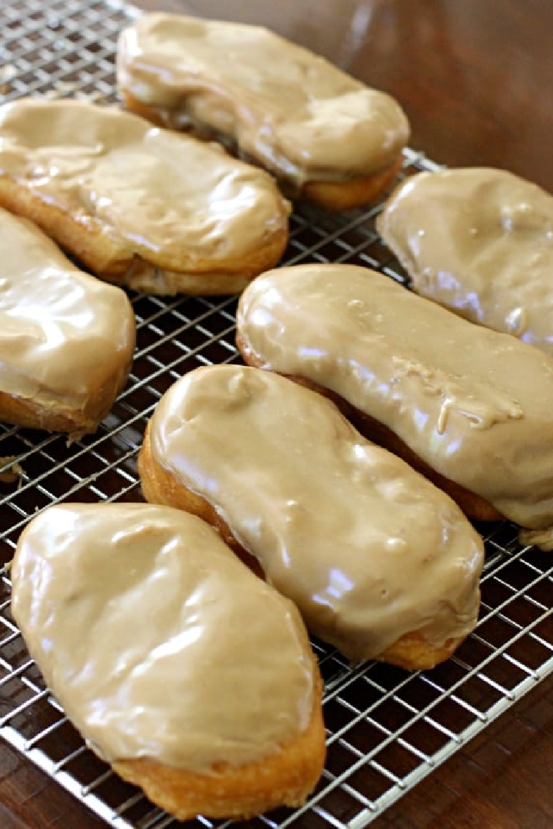 maple bars on a cooling rack
