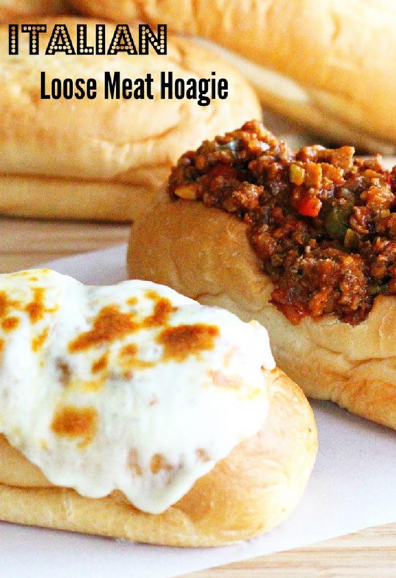 italian loose meat hoagie