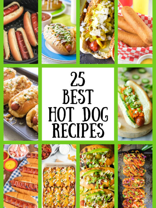 collage of best hot dog recipes
