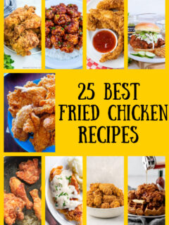 pinterest collage image for fried chicken recipes