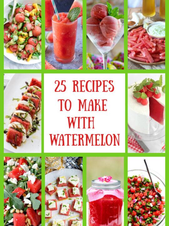 watermelon recipes collage