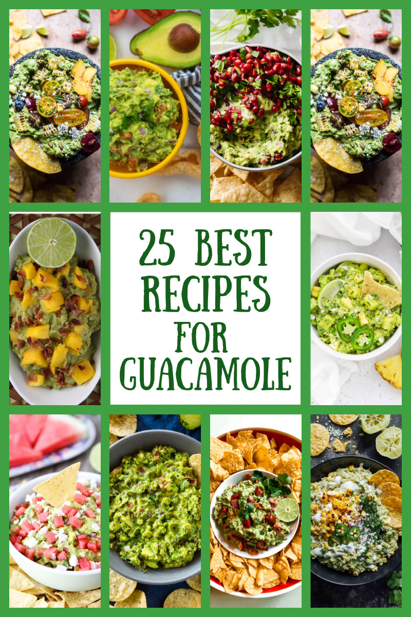 pinterest image for best guacamole recipes collage