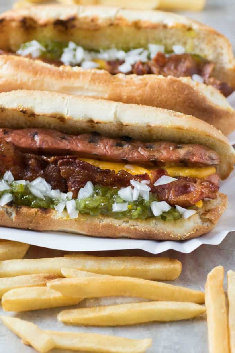 copycat whistle dogs with french fries