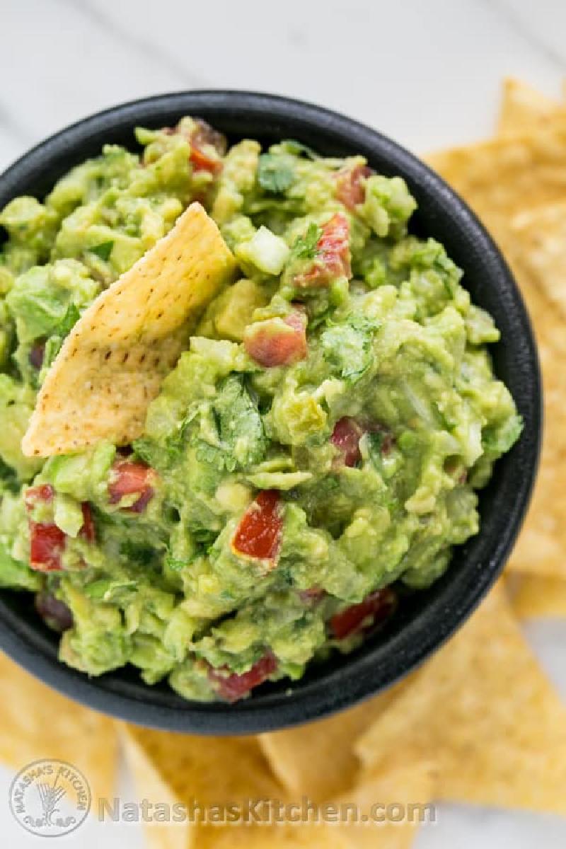 spicy guacamole in a bowl