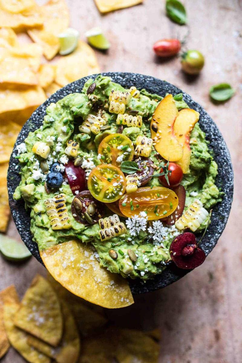 garden guacamole in a bowl