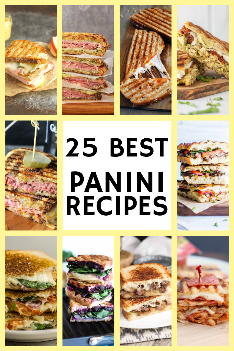 collage of panini recipes
