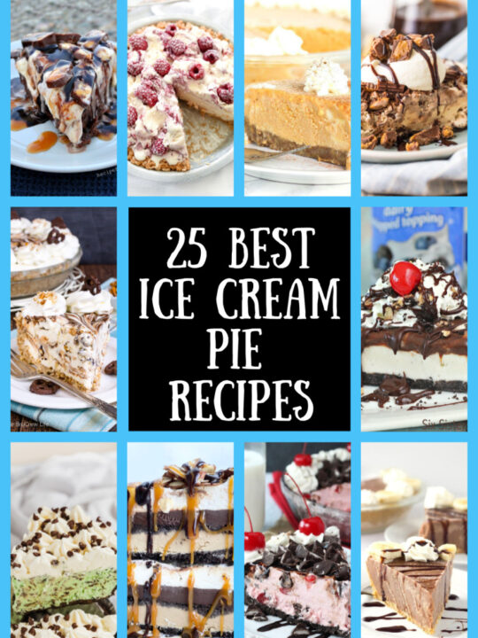 collage of best ice cream pie recipes