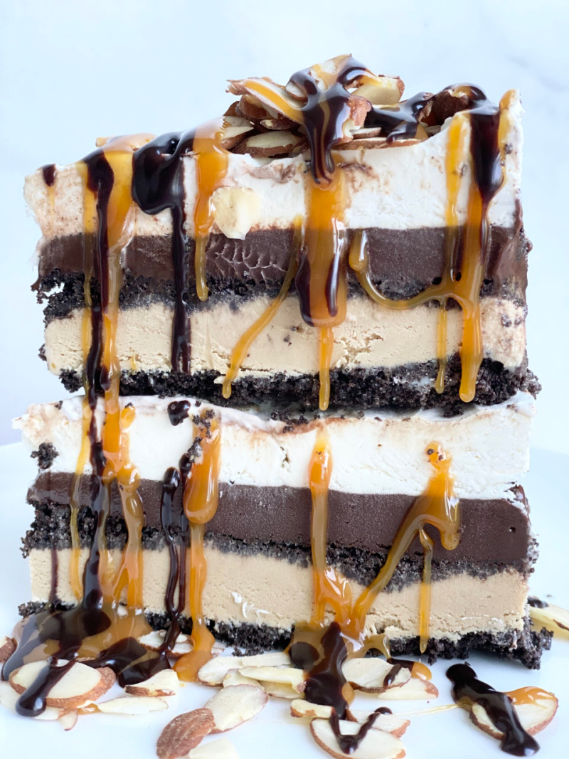 slices stacked of billy minor ice cream pie