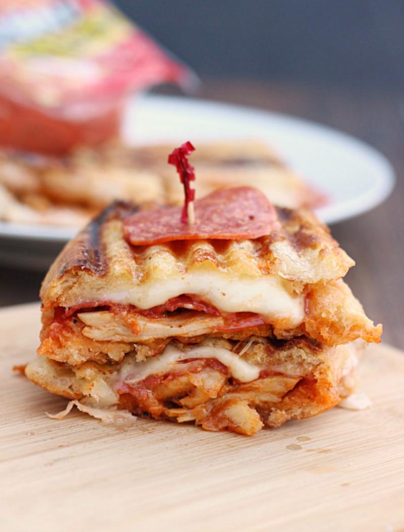 chicken pepperoni parmesan panini