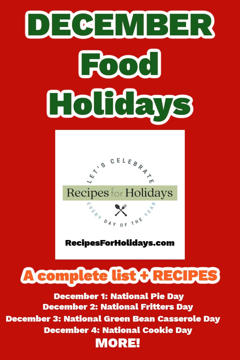 december food holidays for pinterest