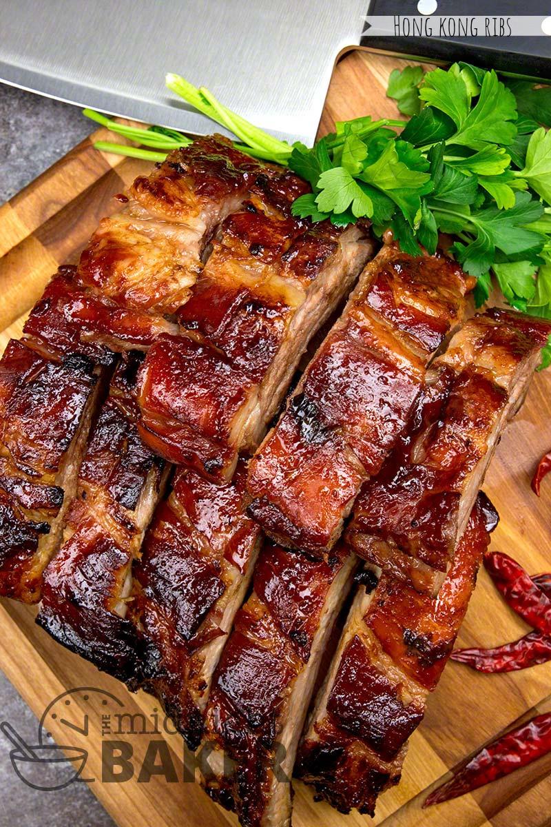 hong kong ribs cut into pieces