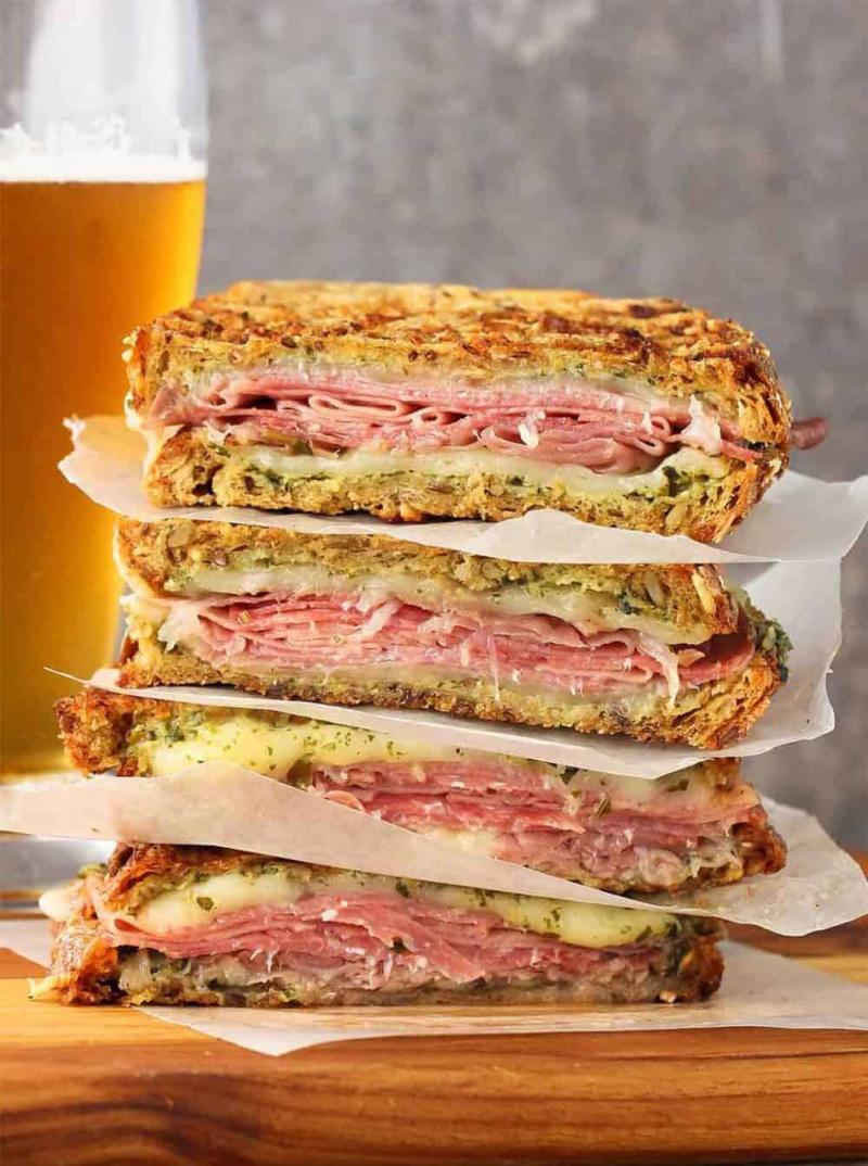 stacked slices italian style panini