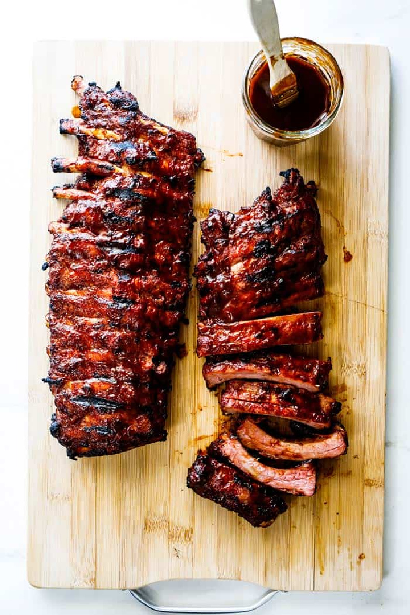 Ultimate Fall off the Bone Baby Back Ribs on a cutting board