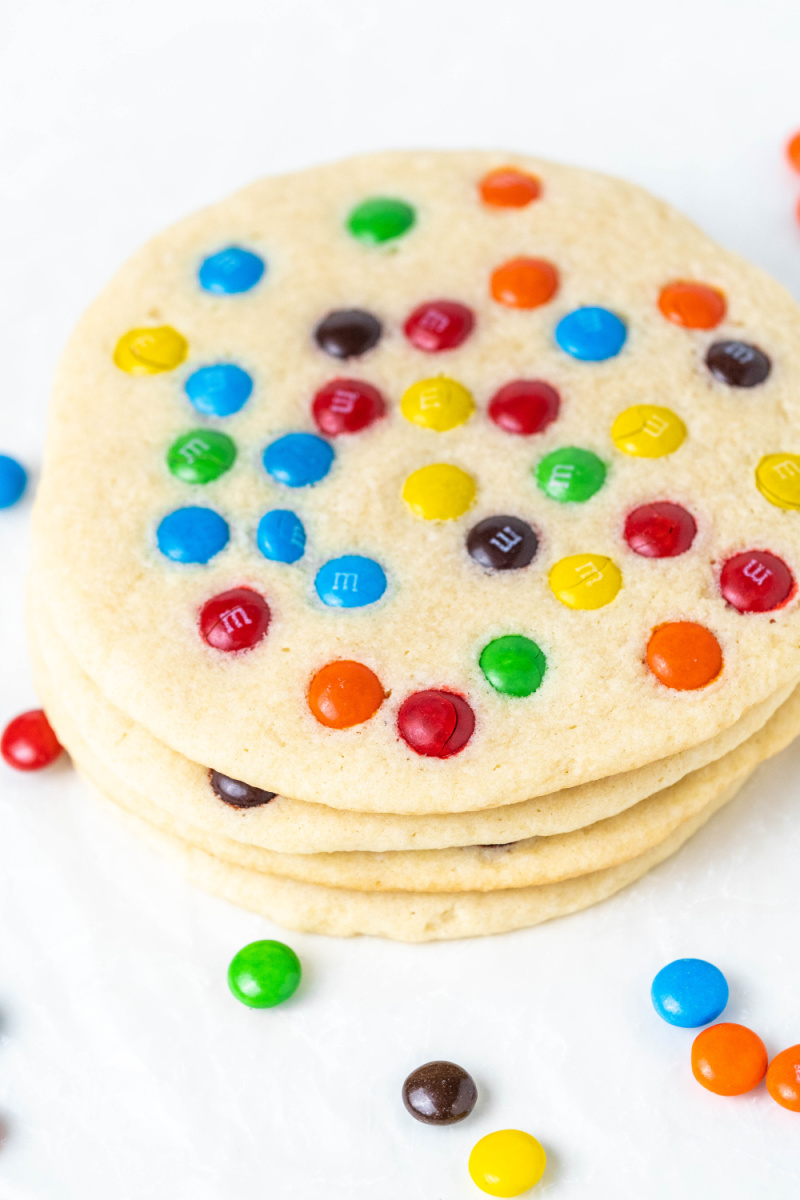 Stack of M&M Cookies