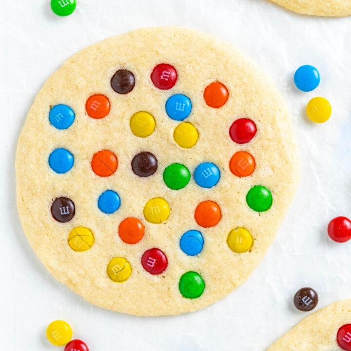 bakery style giant M&M Cookies